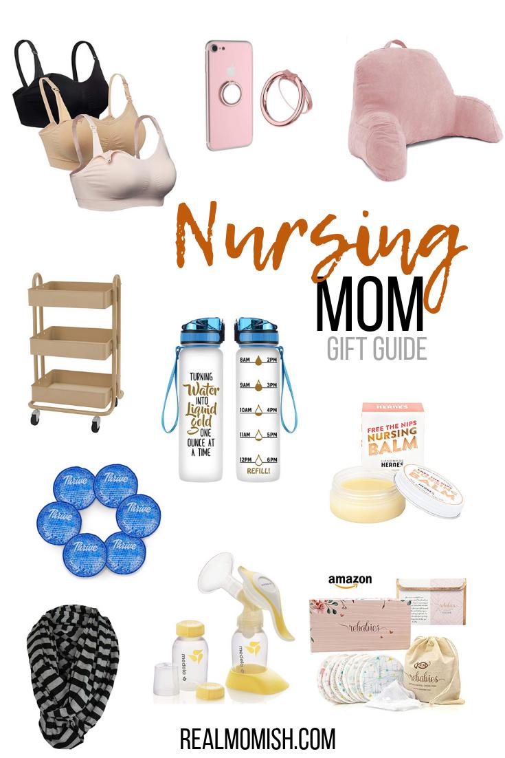 Nursing Mom Gift Guide #nursingmom #breastfeeding #breastfeedingitems