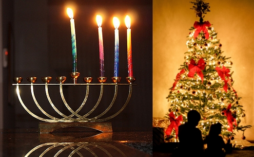 Hanukkah menorah  and Christmas tree.jpg