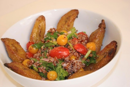 Quinoa, Golden Berry, Tomato Salad with Sliced Plantains.jpg