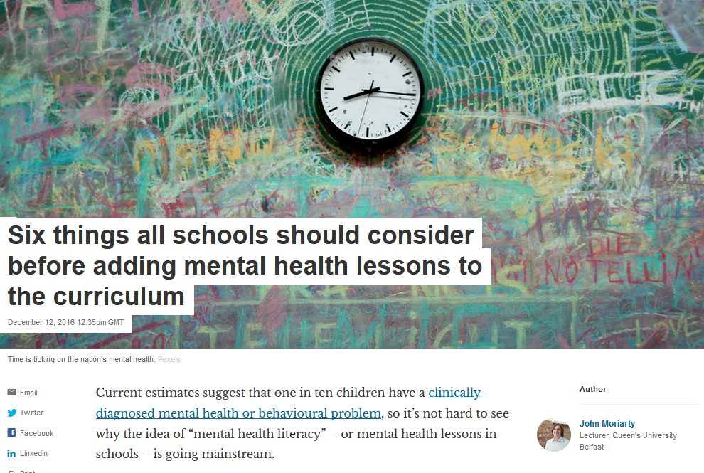 The Conversation: Mental Health in Schools