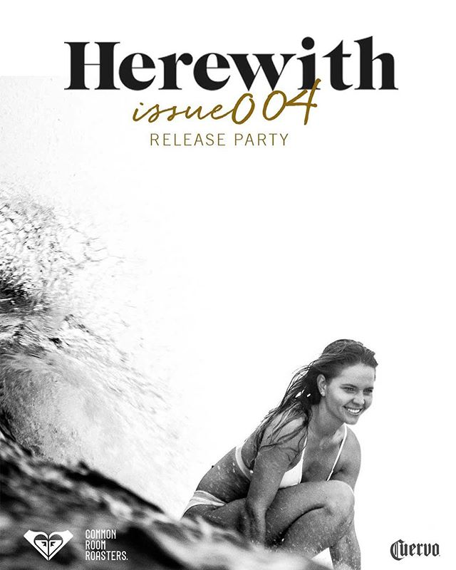 @herewithmagazine - Issue 004 Release party is this Friday at  @commonroomroasters 🌴 #NewportBeach #livepainting #herewith #serenalutton #marynn #california