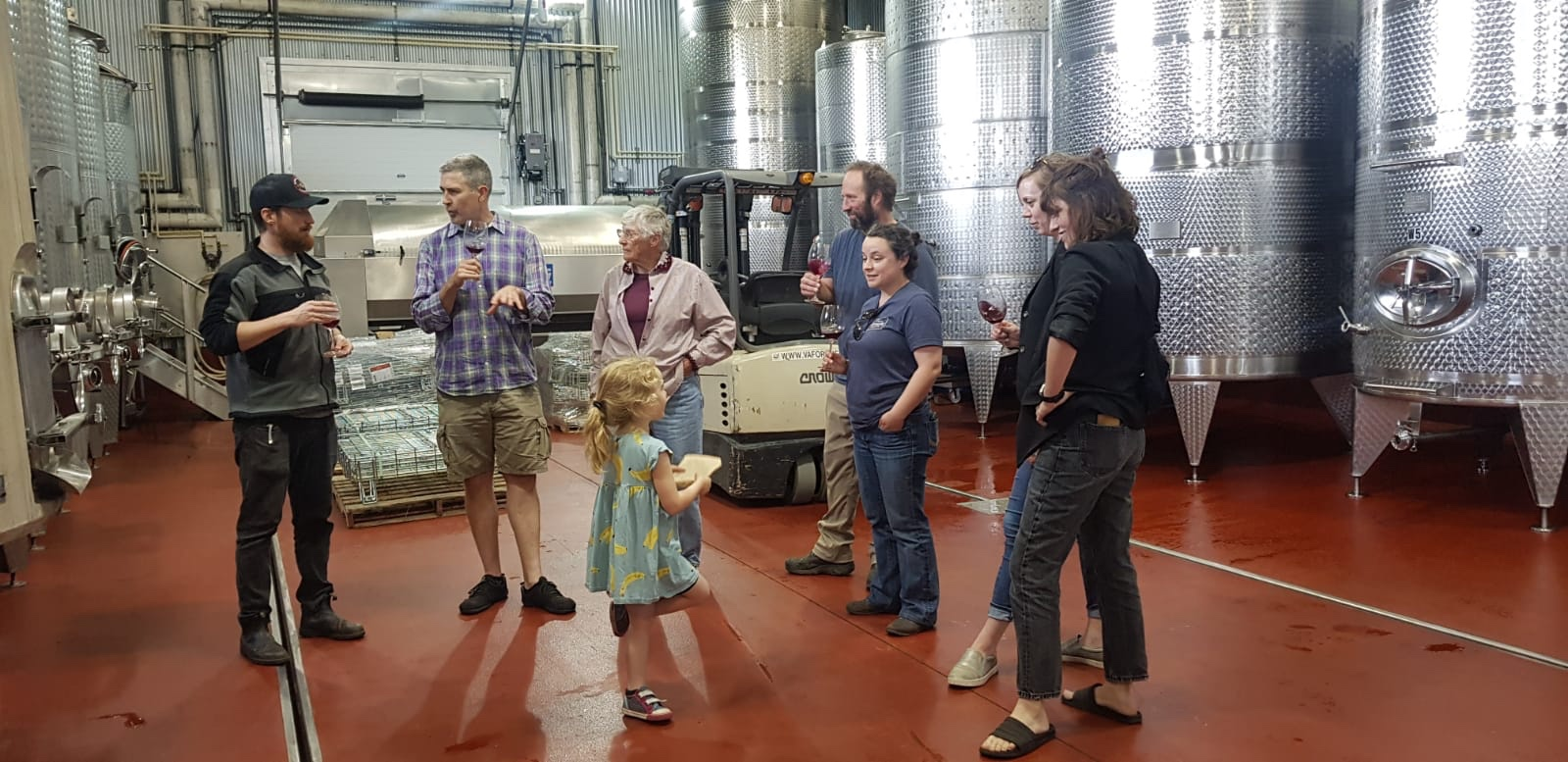 The MAV crew and family having a sip with Michael at King Family Vineyards. Amelia has a wonderful palate, but she's only allowed to sniff for the next several years :).