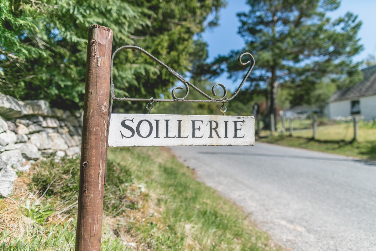 Soillerie House - house sign from the road