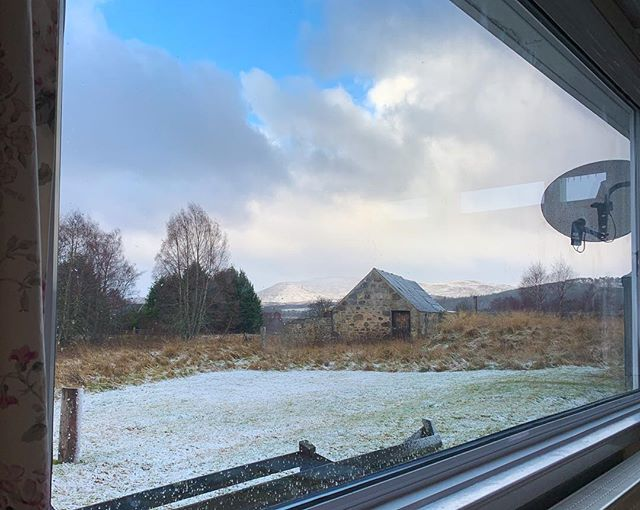 A cosy winter view from Soillerie - glad of the stack of books to read in front of the open fire! #cairngormsnationalpark #selfcateringcottage #insh #kingussie #inshmarshes #walkingholiday #cycleholiday #skiholiday