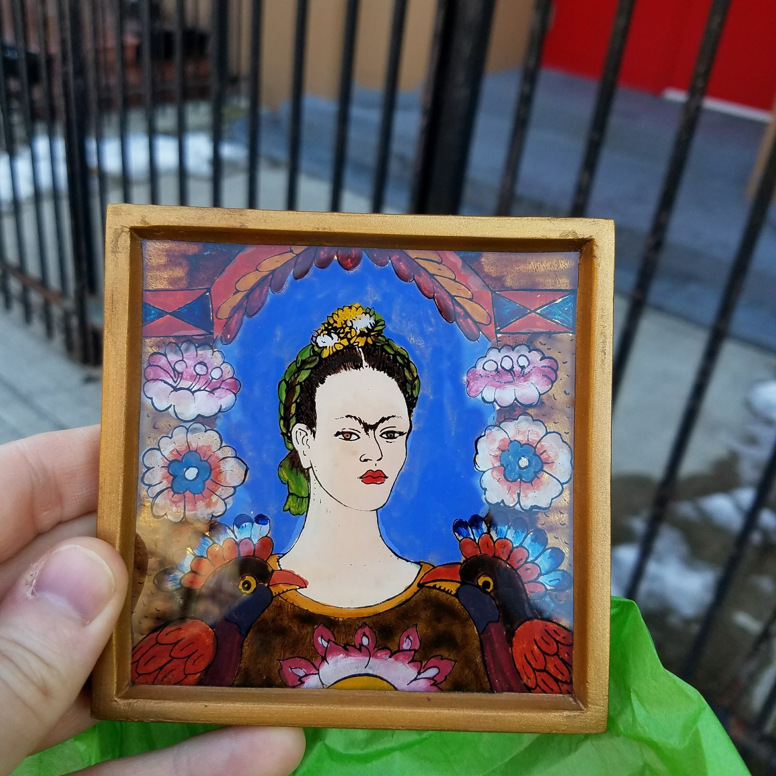 I was so excited about this unique find - made in Peru. Frida Kahlo! Gifting this to a special someone. Things you wouldn't find at Target.
