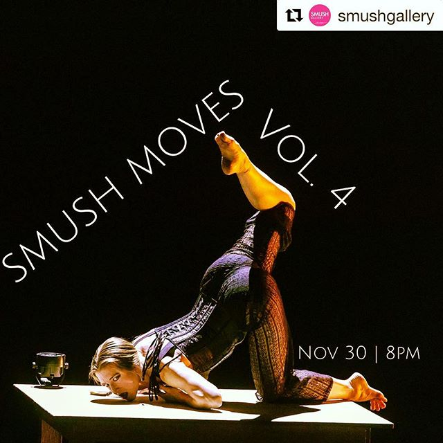 "#Repost @smushgallery with @get_repost ・・・ N-root Danceart presents ""You, Me & Make-believe, or Tender is Thy Soul,"" an improvised solo by dancer-choreographer Stephanie Nerbak. After decades of dancing, Nerbak is finding her way back to the thrill of improvisation and posing questions: Why do I dance? How can my dancing be relevant? How can I spur intimacy between myself and the audience? ""That last question feels the most necessary,"" she says. See ""You, Me & Make-believe, or Tender is Thy Soul"" @smushgallery November 30, 8p on SMUSH Moves, Vol. 4."