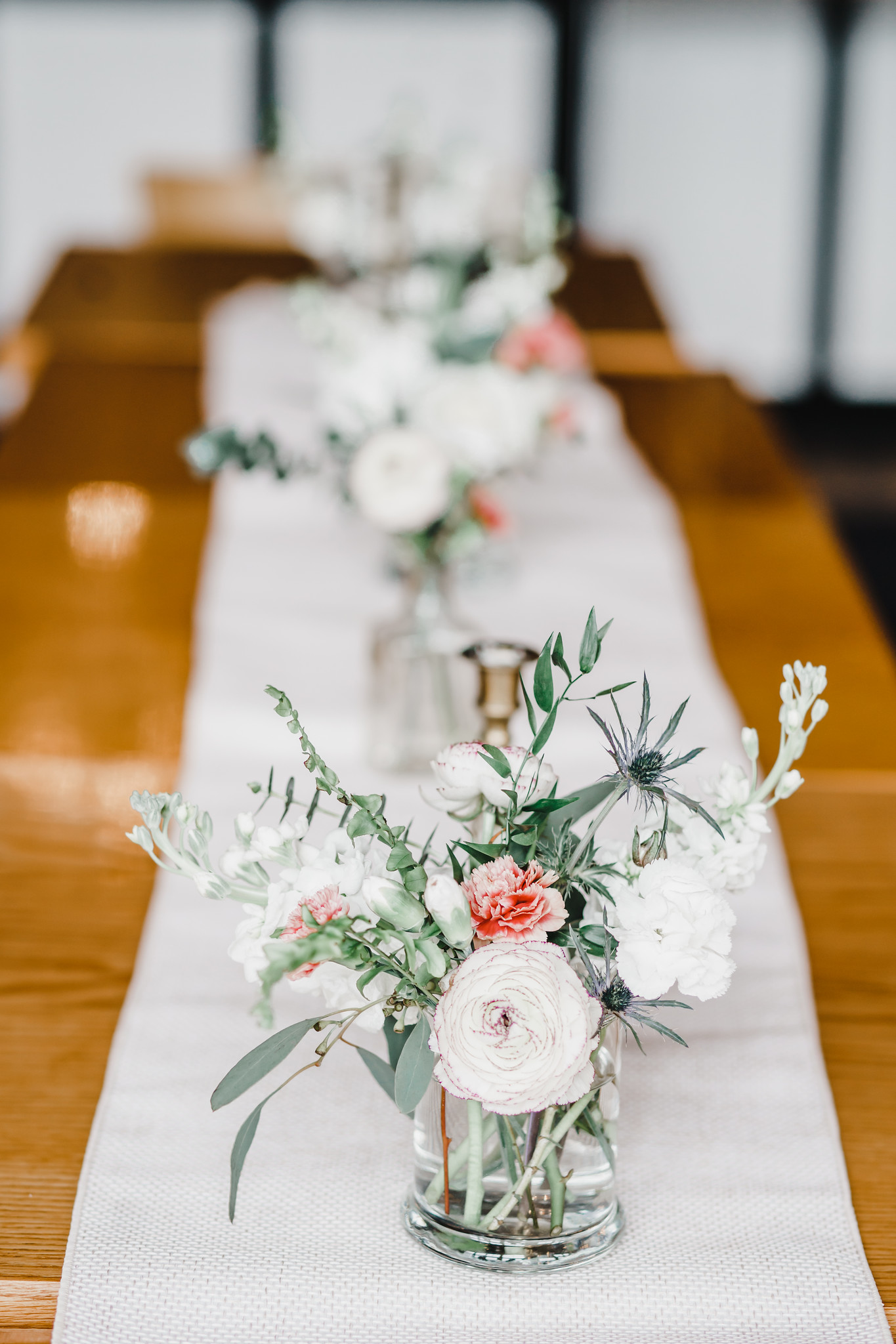 Photo by Margarita Media  Planning and Design by Honeydew Events  Venue: Best Coffee at the Market  Florals: MoonRise Floral Design