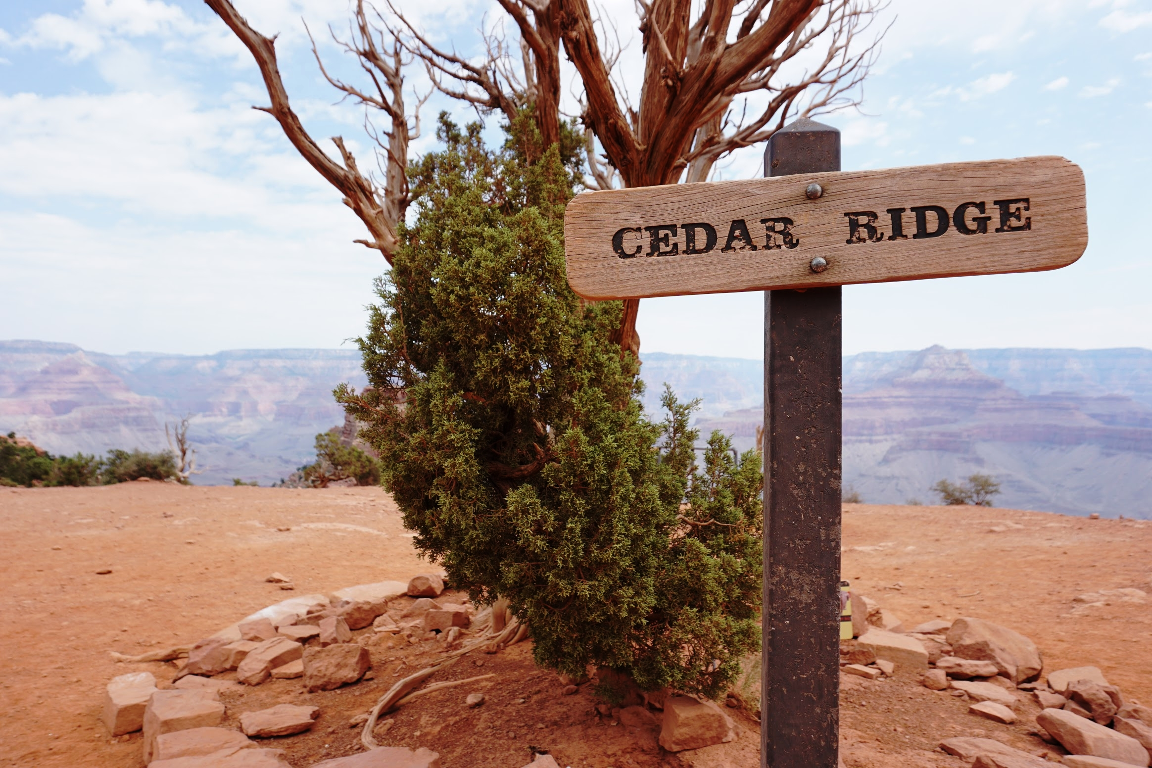 Cedar Ridge is a point along the South Kaibab Trail.