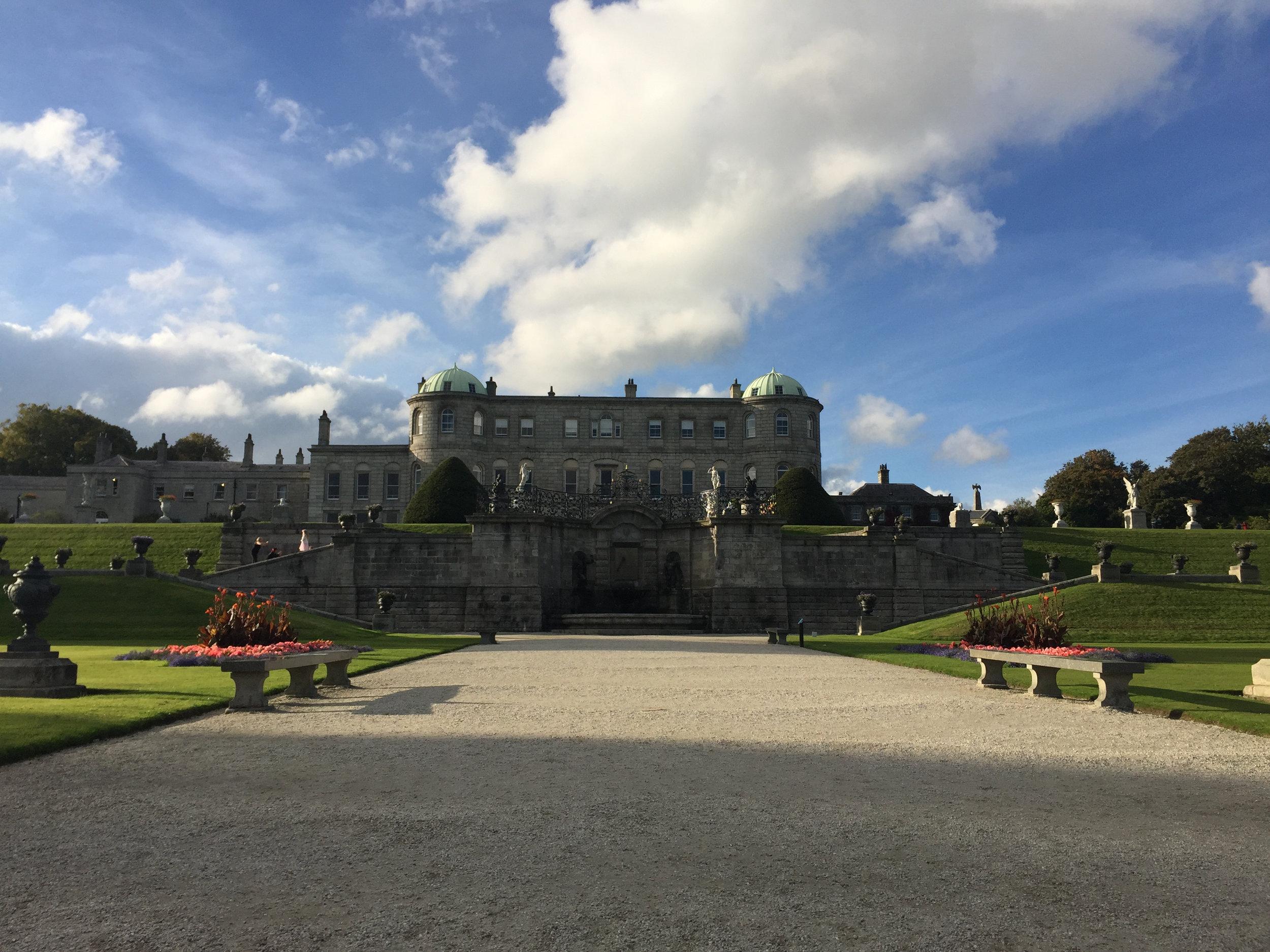 Powerscourt House and gardens.