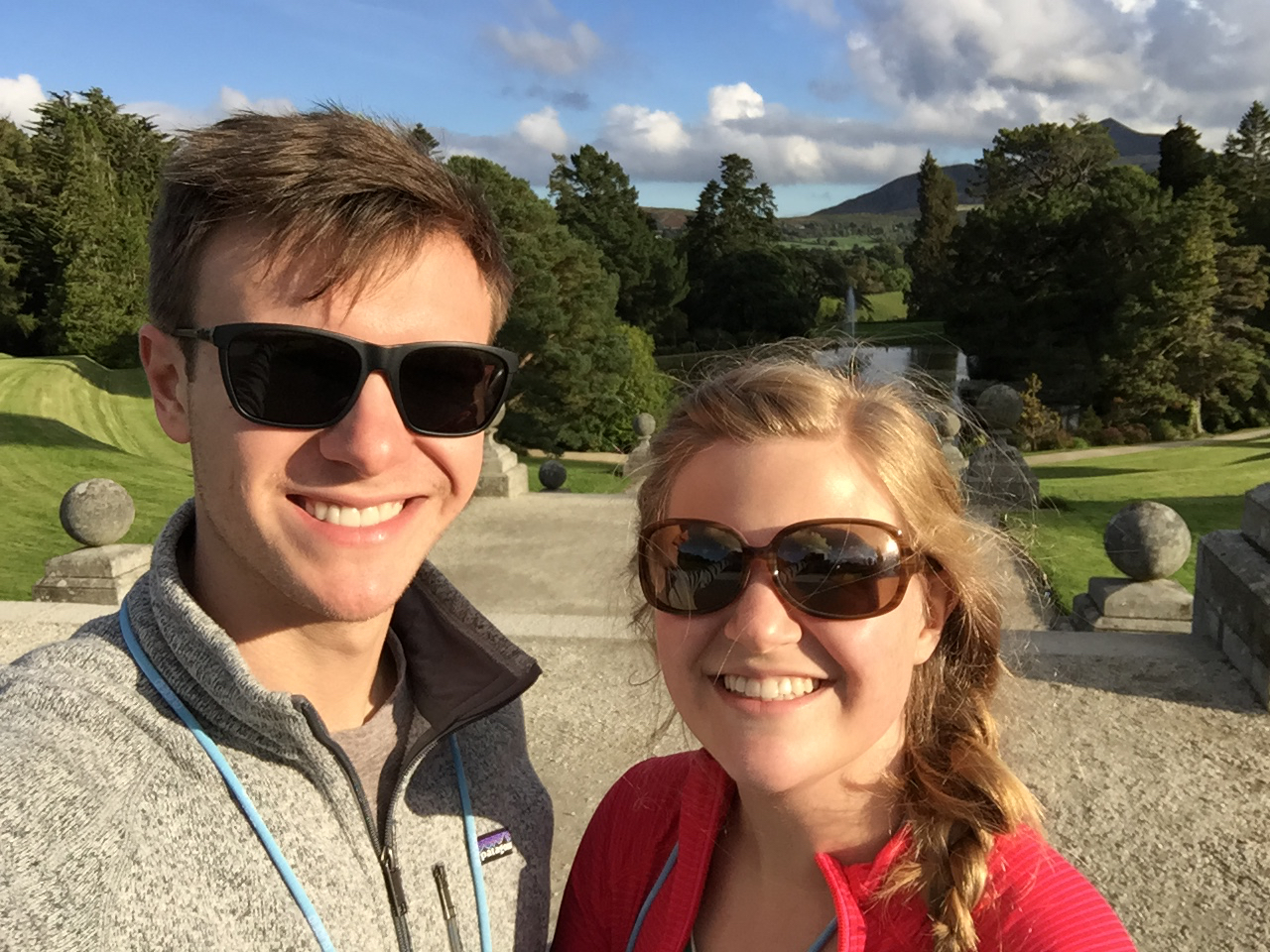 A sunny day at Powerscourt.