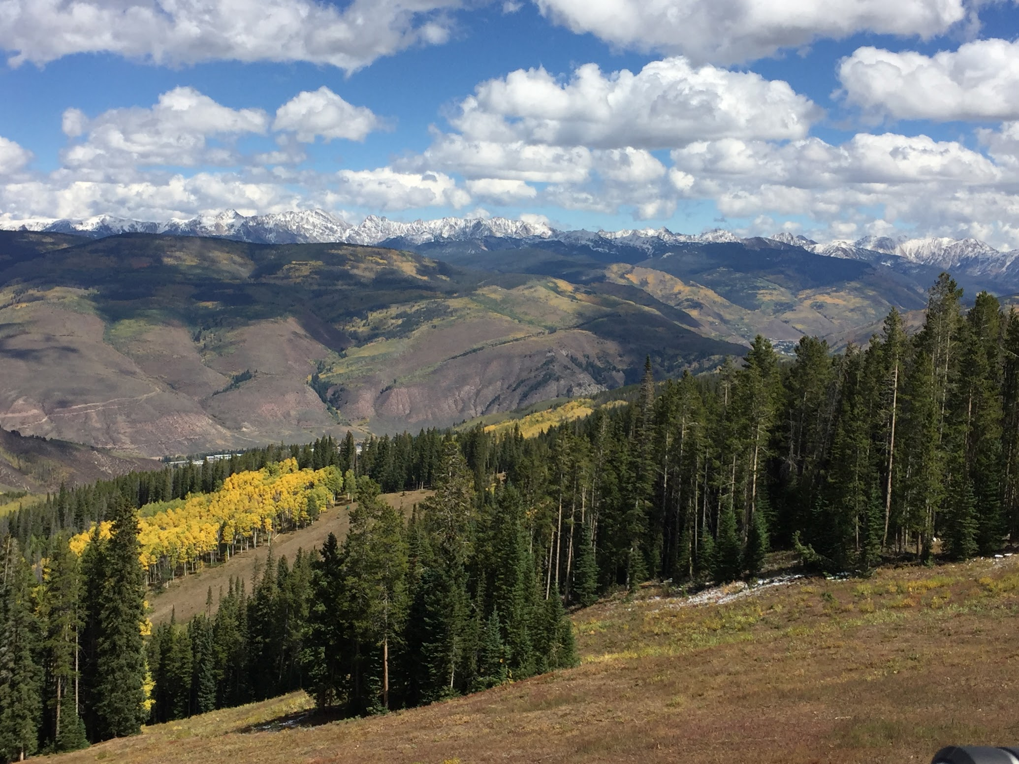 View from the Chair lift in Beaver Creek in Early Fall.