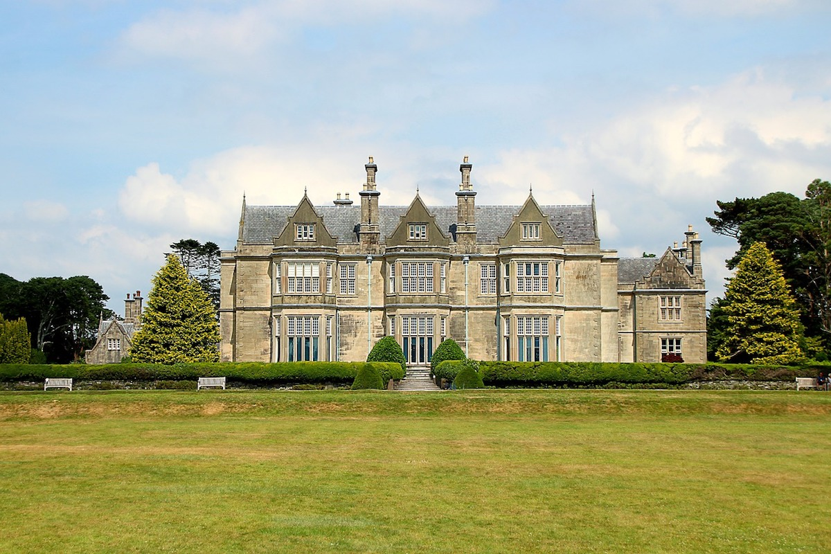 Muckross House from the rear. The large windows look over Middle Lake.