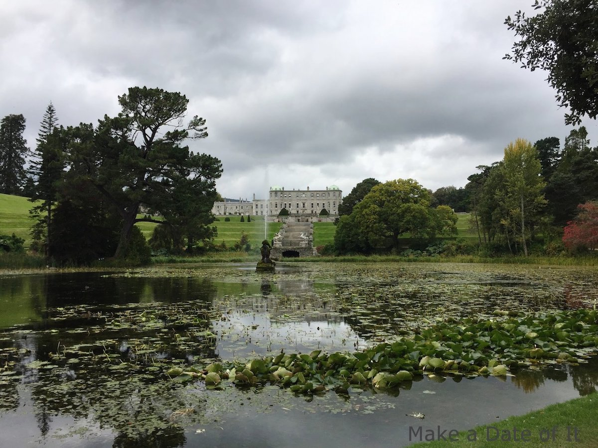 Powerscourt House from across Triton Lake.