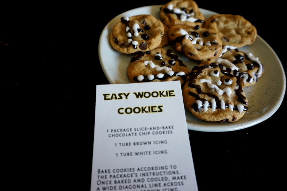 "You'll get a kick out of icing these ""Wookie Cookies"". Don't worry if they aren't perfect—the hairier the better."