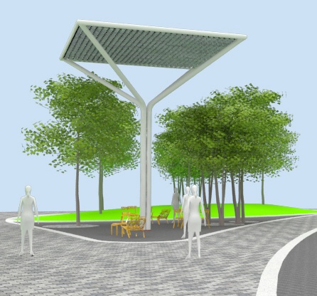Ned Kahn's proposal for Prairie Tree