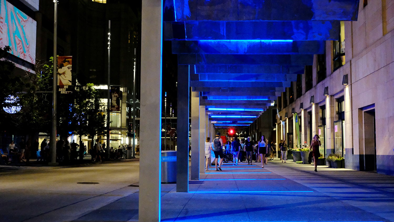 JCFO's Light Walk during Northern Spark in June 2018, a late evening arts event