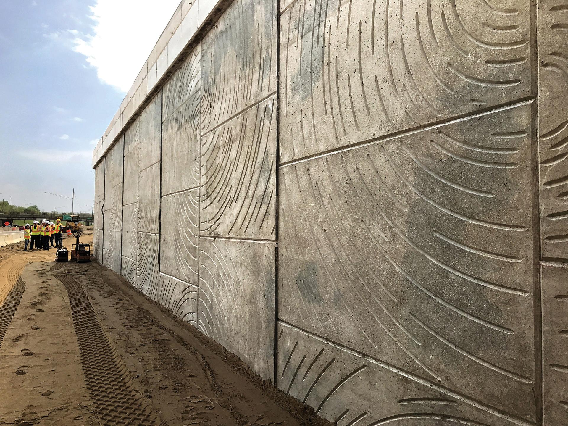 Constellation Pattern MSE Wall, Detroit, MI, 2018