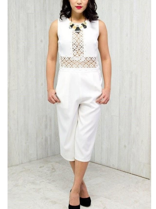 White Lace Jumpsuit, $25  -  From Anny