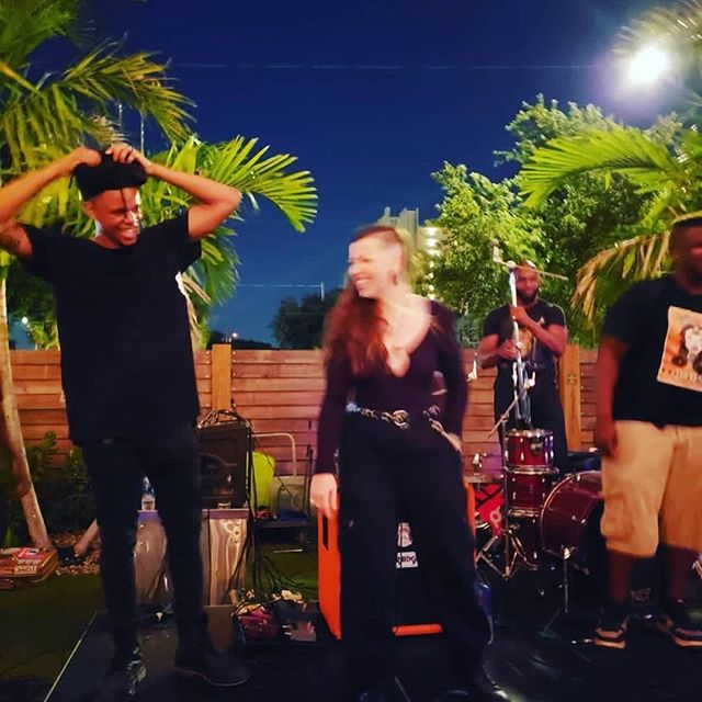 Nothing makes us happier than music. Thank you all for last night. @bangarangtampa y'all are so professional and just cool as hell. When @djqeys started scratching during the @queenofex & @rogerthomasmusic performance 🤯 @tysoniousmink is the glue we love you brother. So much community. @samurai_shotgun y'all inspire us in ways you'll never understand and the sky is the fucking limit. #yearofthesamurai we set a personal manifestation goal and I believe on energy alone we blew it out the frame. Thank you @swampbanshee for capturing why we do this 💧#fullmoon #scorpioenergy #tysoniousspins #queenofexlive #litwet (also @janetteology always pops up at the perfect time thank YOU) @shilohsmami is fearless in working that light and WE APPRECIATE THE OPPORTUNITY. #blessup