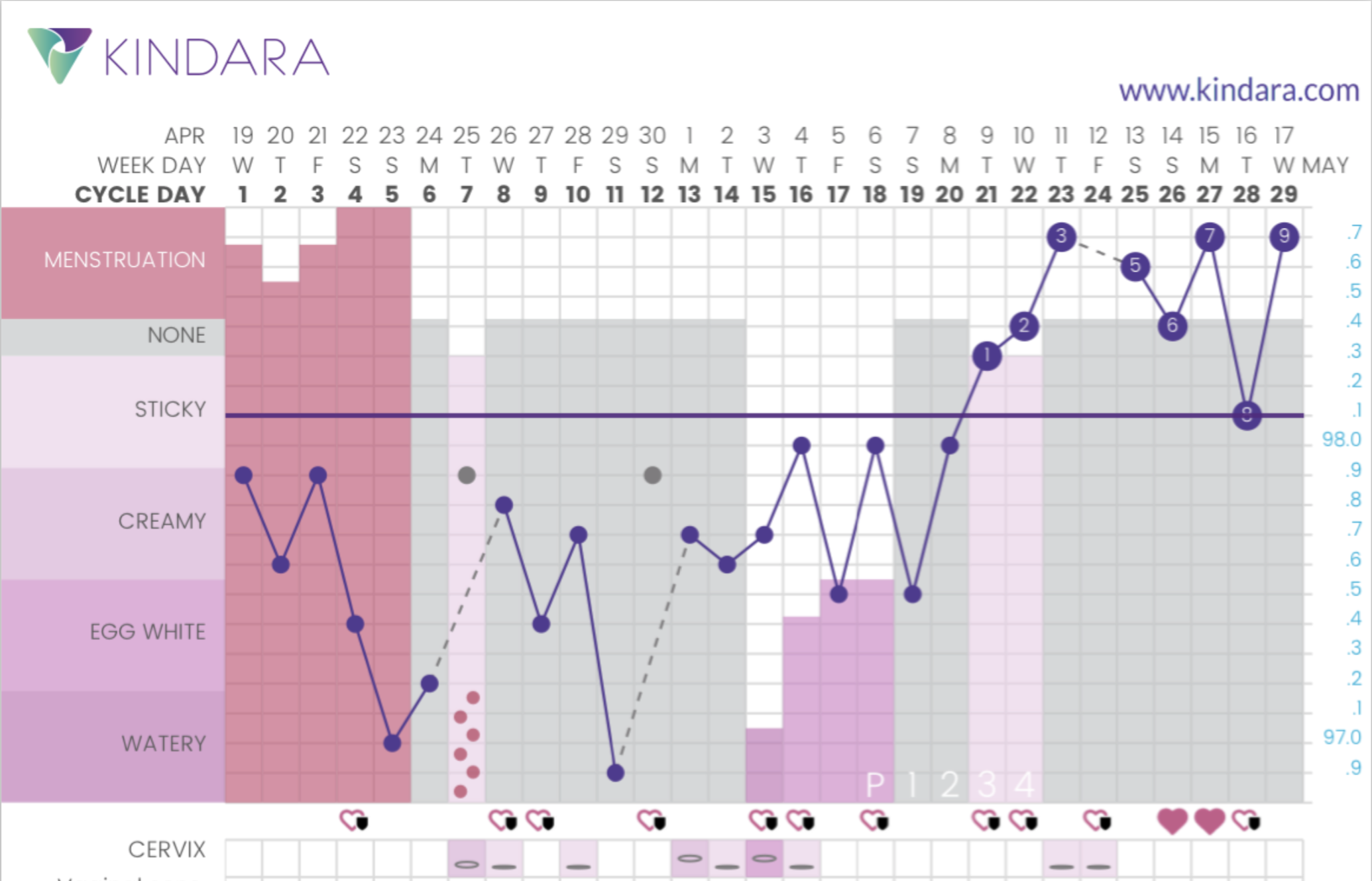 One of my Kindara charts.