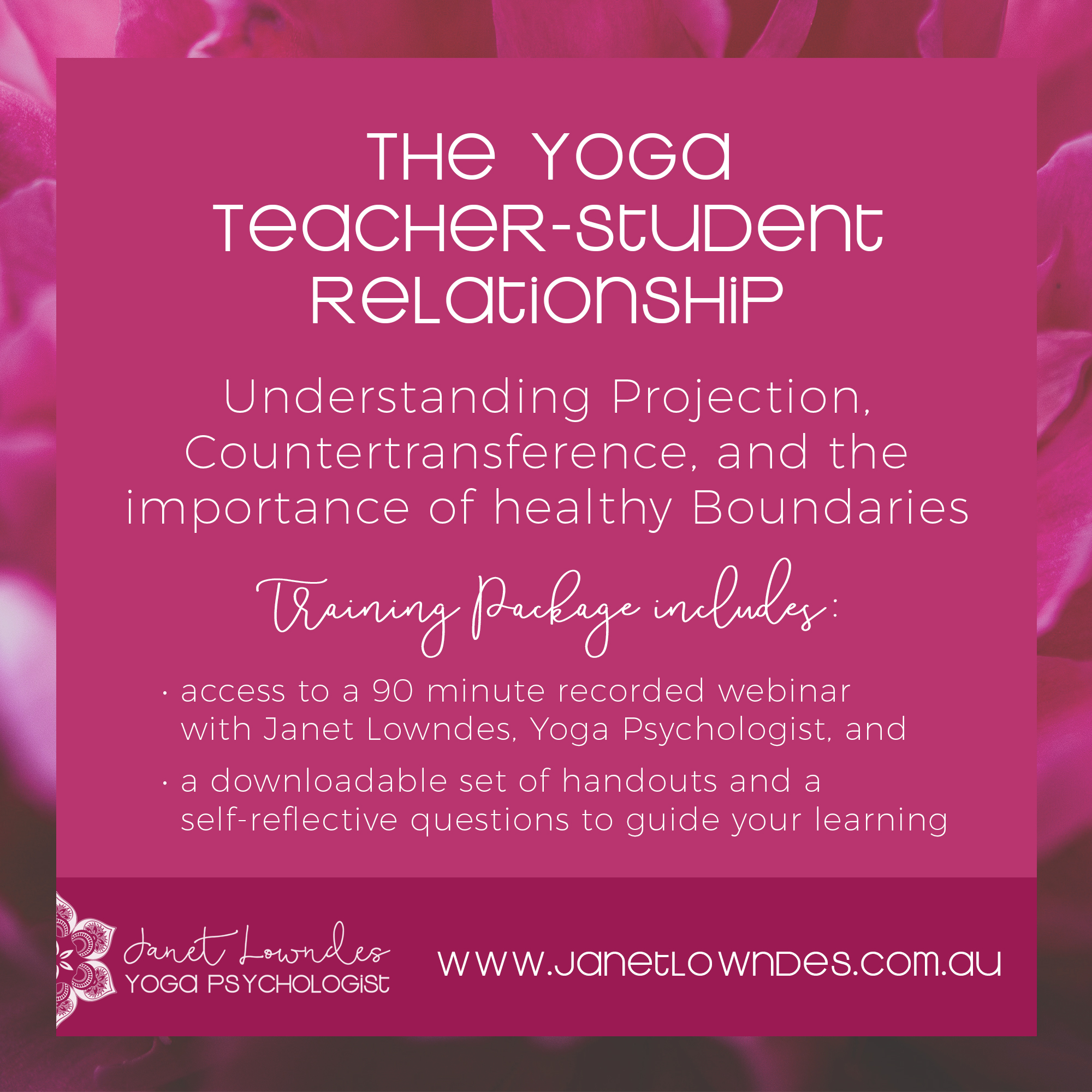 Understanding Projection - Webinar Recording and Notes for Yoga Teachers -