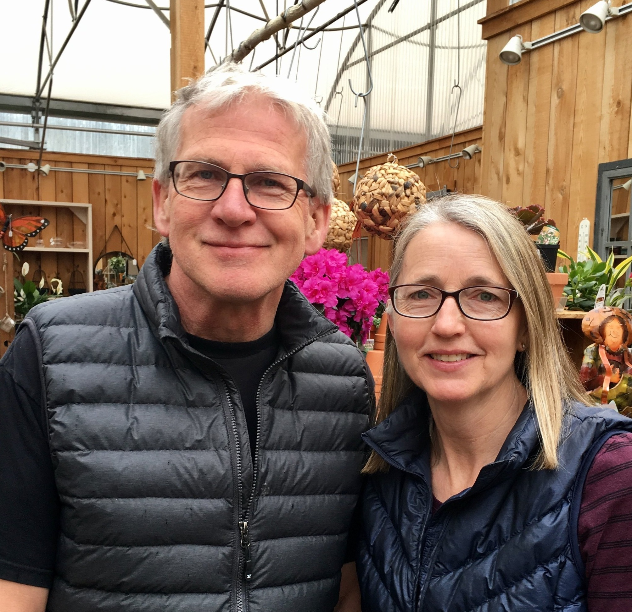 Paul & Yvonne Bulk, owners and founders of Patio Gardens