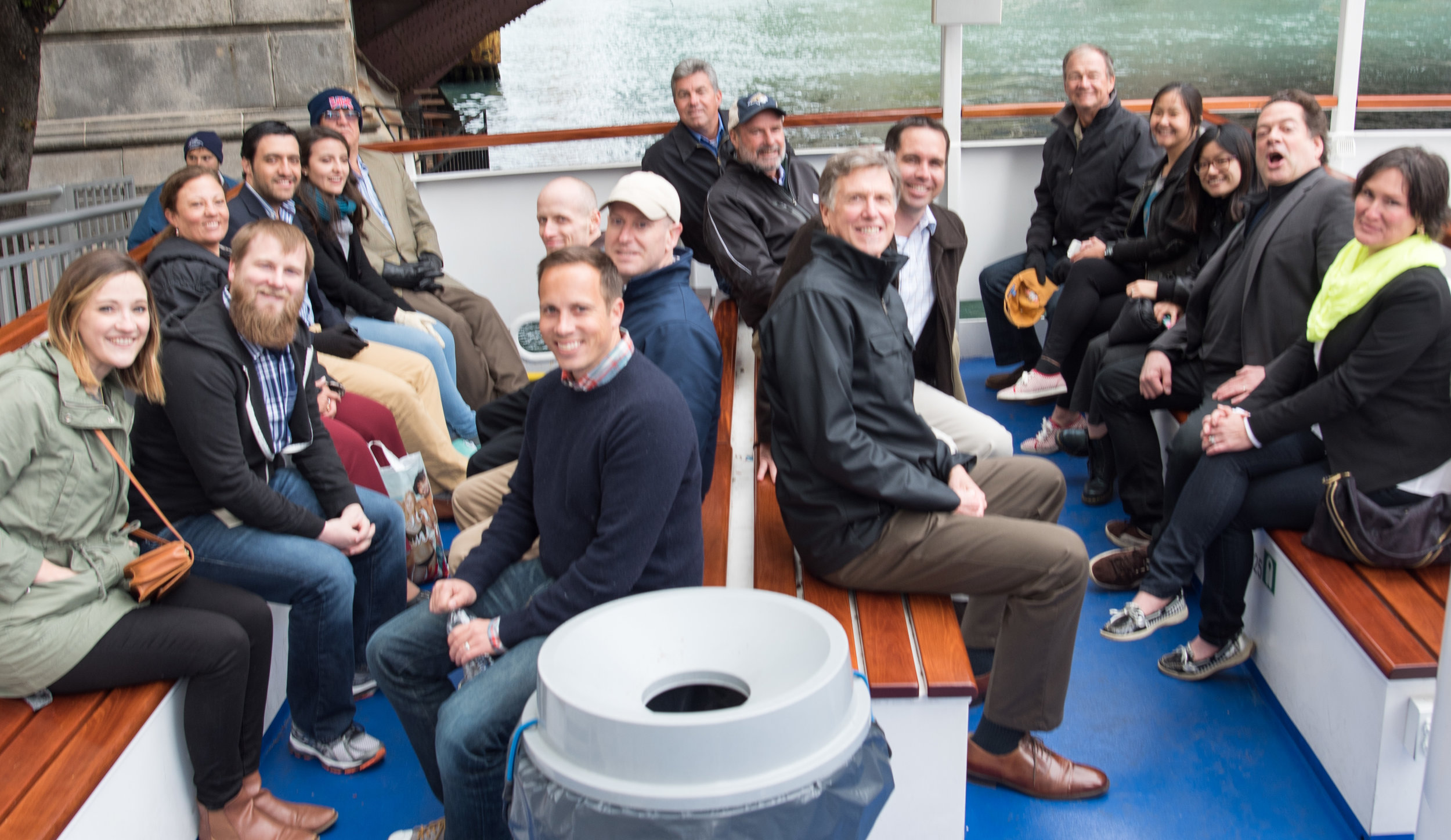 MACH in Chicago boat tour group photo