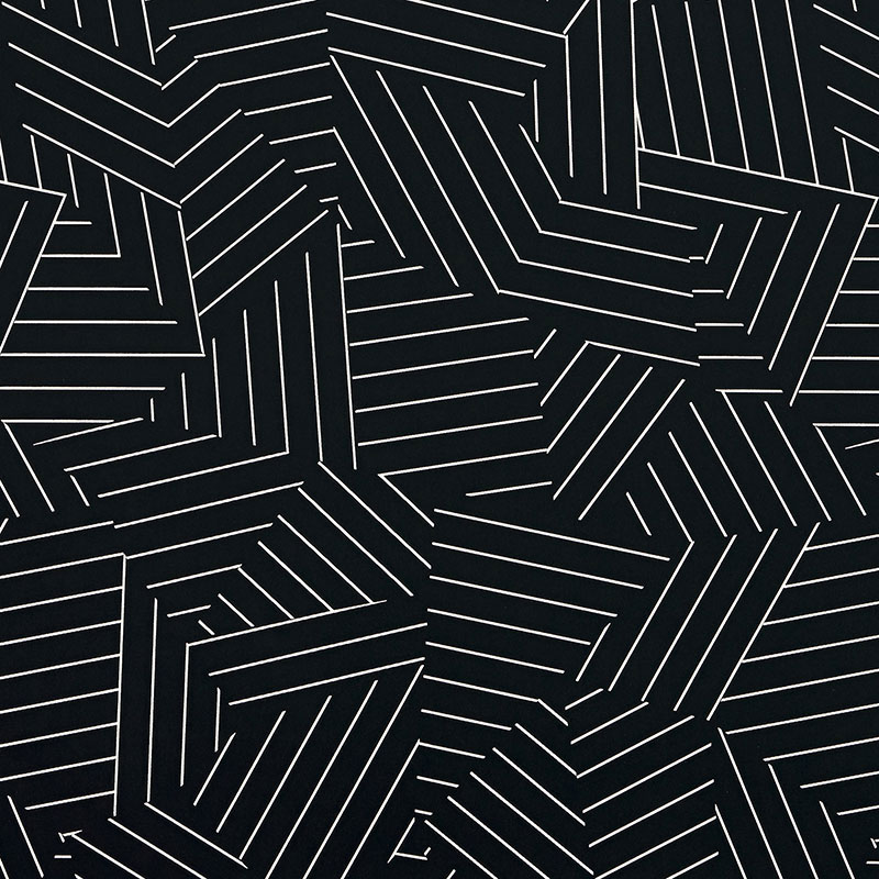 MOD PRINT WALLPAPER BLACK WHITE INTERIOR DESIGN LEXINGTON KY