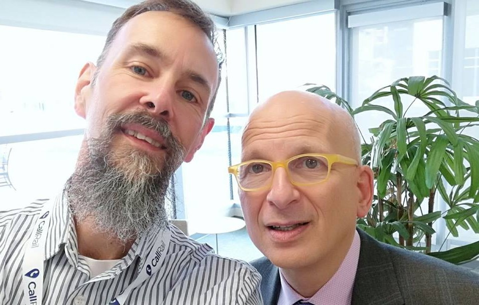 Jaimey with the legendary Seth Godin