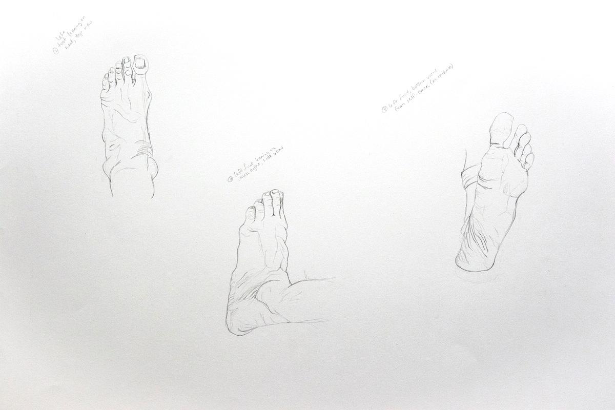 Foot studies, 2019.