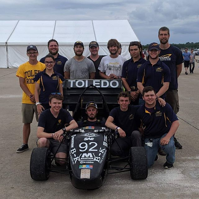 FSAE Lincoln competition is complete!  We finished in the top half of the teams and had a great time with all of the teams who attended.  We'll see you again at the Pittsburgh Shootout Autocross event hosted by @pittfsae on July 6th! • • • #formulasae #fsae #fsaeparts #formulastudent #racecar #racecars #engineering #engineer #studentbuilt #toledoohio #ohio #universityoftoledo  #photooftheday #car #race #camber #suspension #aero #aerodynamics #competition #motorsports