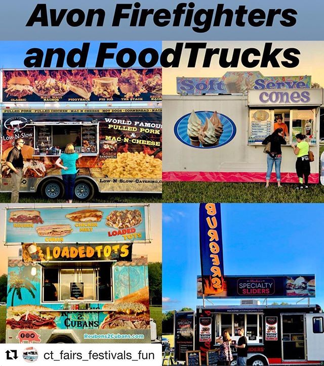 #Repost @ct_fairs_festivals_fun ・・・ This weekend Avon's Firefighters food truck festival and state fire convention #dontmissout #connecticut #ctfairsandfests #carnivals #amazingfoods #ctfairs #food #delicious #firefighter #fireworks #foodtruck