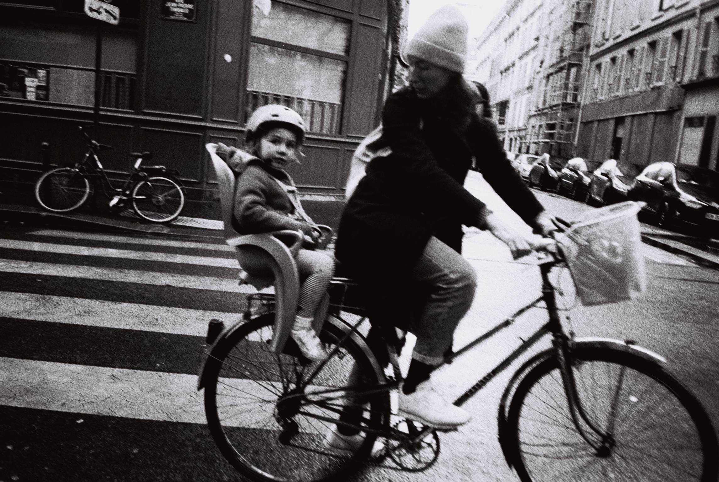 Kid on bicycle