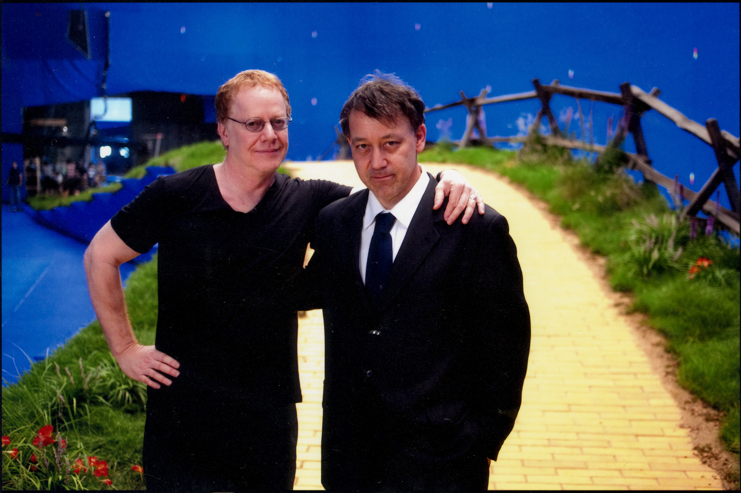 Sam Raimi and Danny Elfman on the set of Oz The Great and Powerful