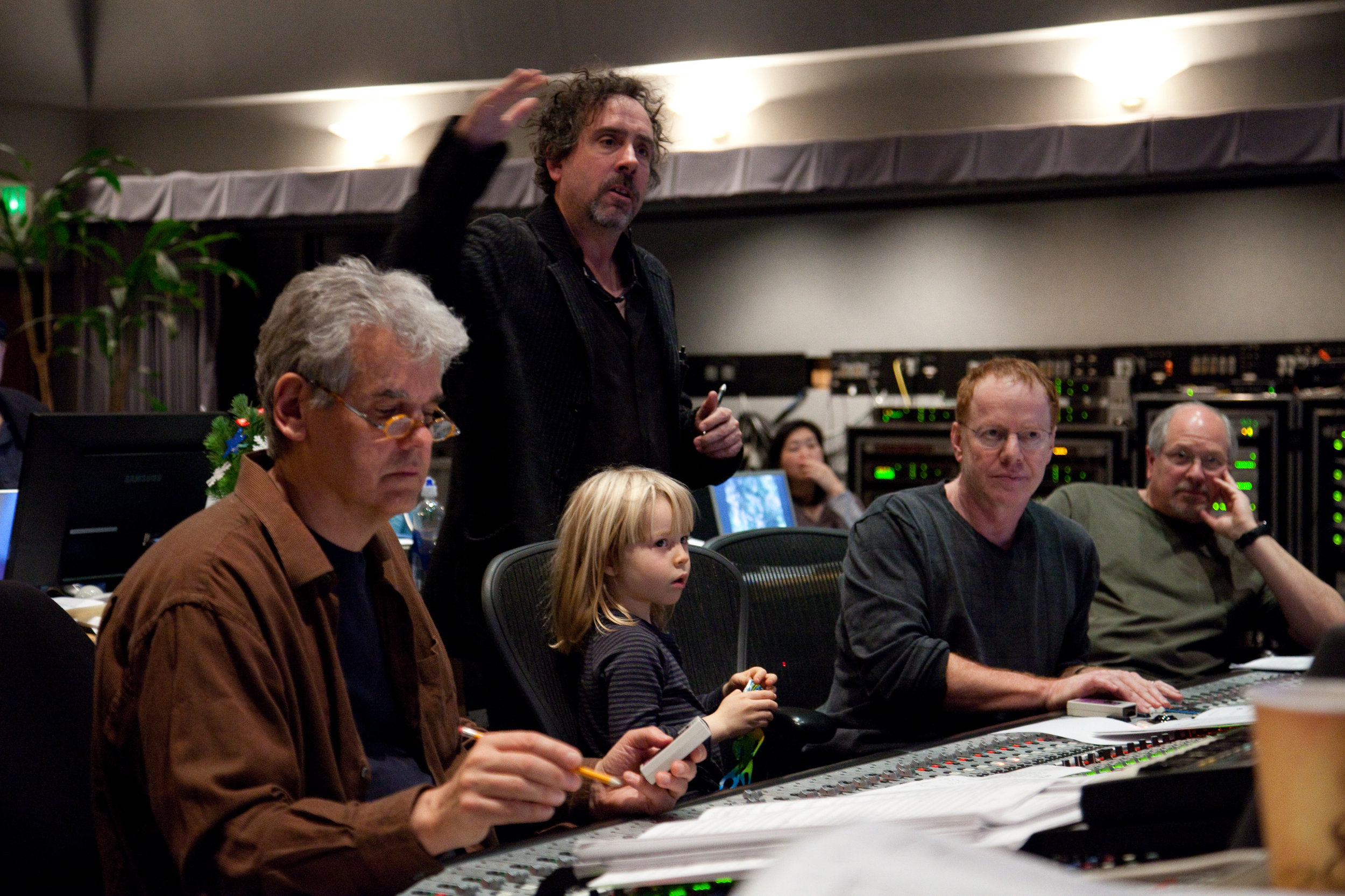 Tim Burton and Danny Elfman at Alice in Wonderland Scoring Session (2010)