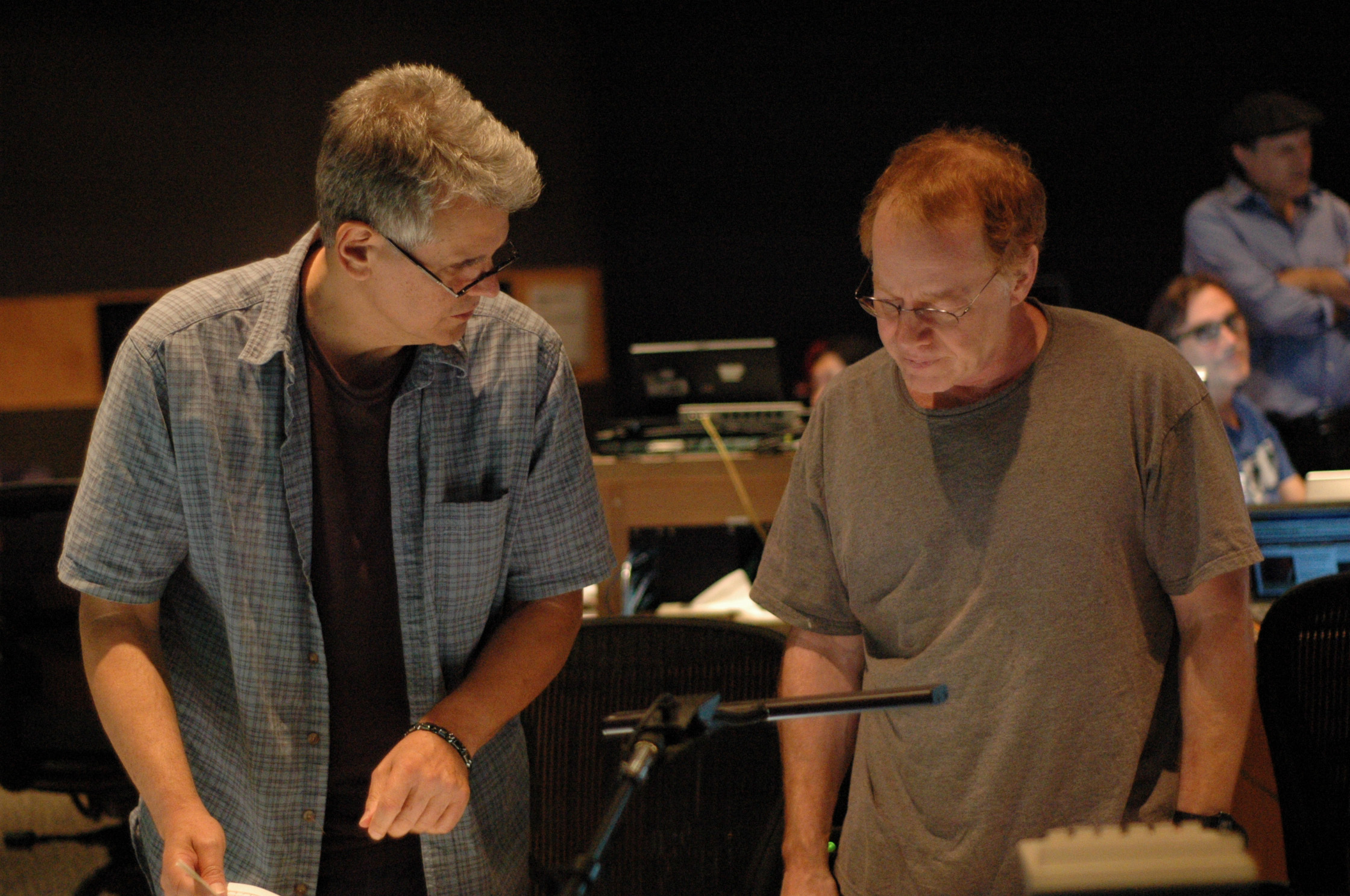 Steve Bartek and Danny Elfman at Wolfman Scoring Session (2009)