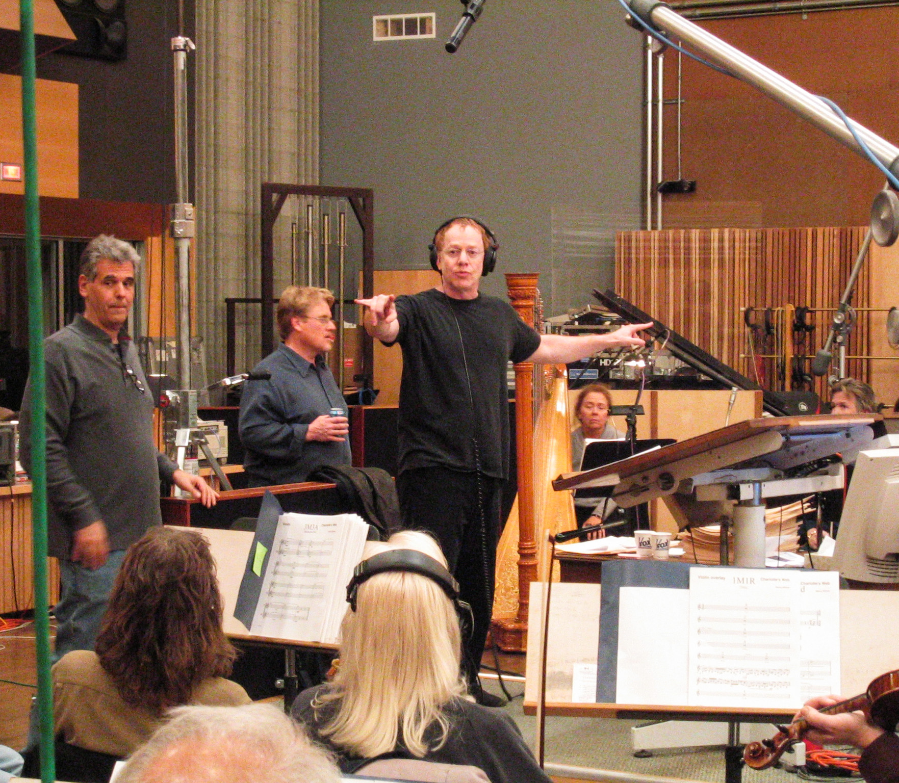 Danny Conducting at Charlotte's Web Scoring Session (2006)