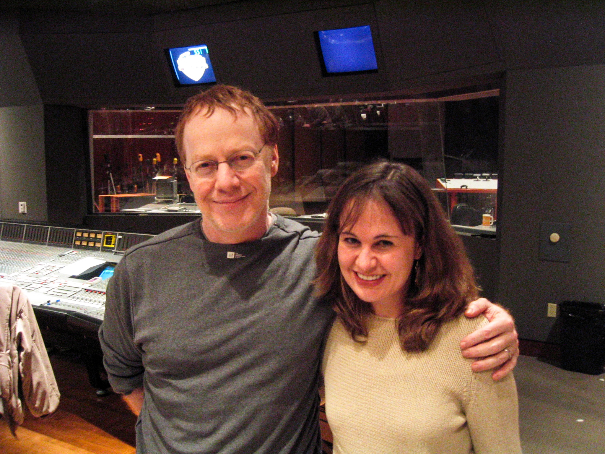 Danny Elfman and Debbie Lurie at Deep Sea 3D Mix (2006)