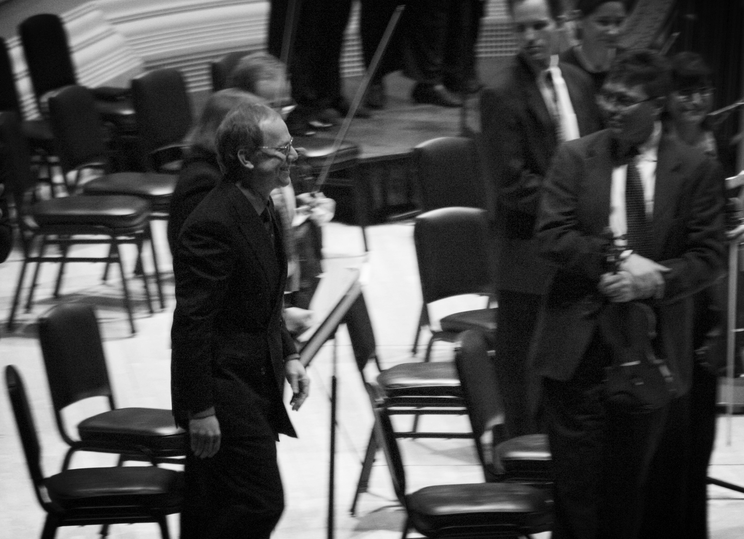 Danny Elfman taking a bow at Carnegie Hall (2005)