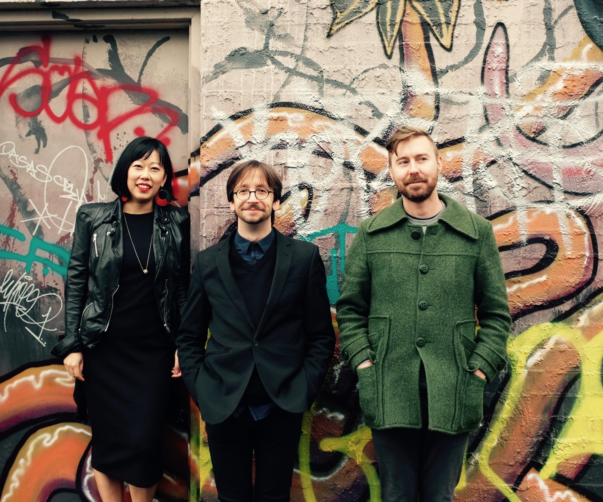 L.A.A. piano trio - Shooting some new promo photos in the streets of Yarraville. Pic by Erica Bramham.