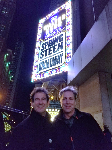 My friend Jim and I in front of the theatre.