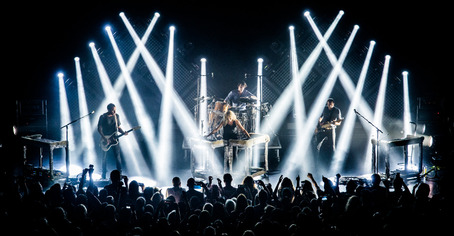 Metric's shows are usually high energy, with Haines leading the way when not behind the keyboards