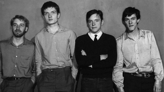 Joy Division L to R: Peter Hook; Ian Curtis; Bernard Sumner; Stephen Morris