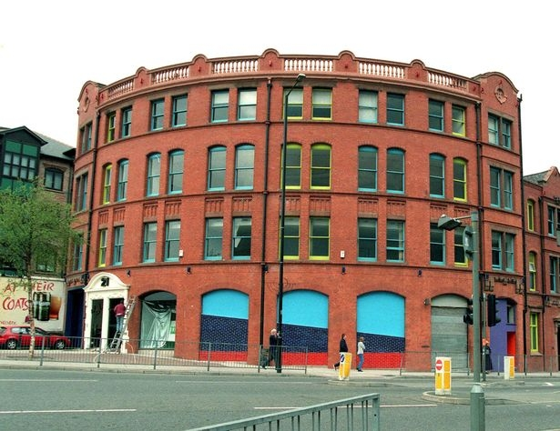 The Roundhouse in Manchester, location of The Hacienda Nightclub (1982-1997). It was demolished in 2000 for condos that are called, appropriately enough, 'The Hacienda Apartments.'