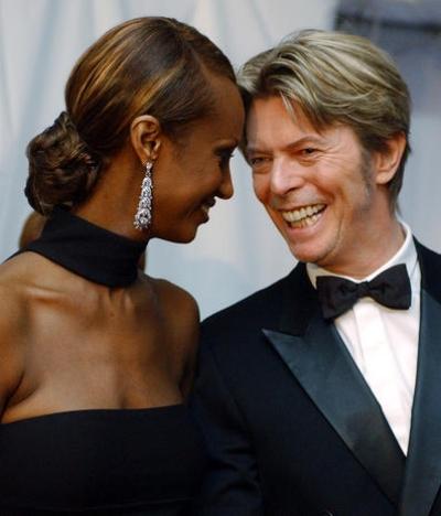 Iman and David, 2002