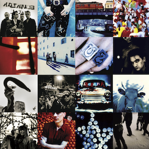 The album's cover was colourful and busy (many shots are again from Corbijn), a sharp change from their past album covers intended to represent the similar change with the album's music.