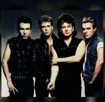 U2 in 1983, starting to look like the rockers they had become