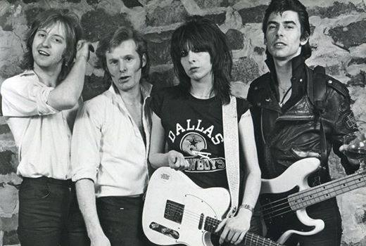 Pretenders in 1980: James Honeyman-Scott, Martin Chambers, Chrissie Hynde, & Pete Farndon