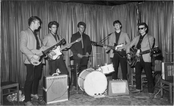 The Hamburg era Beatles: John Lennon, George Harrison, Pete Best, Paul McCartney, Stuart Sutcliffe