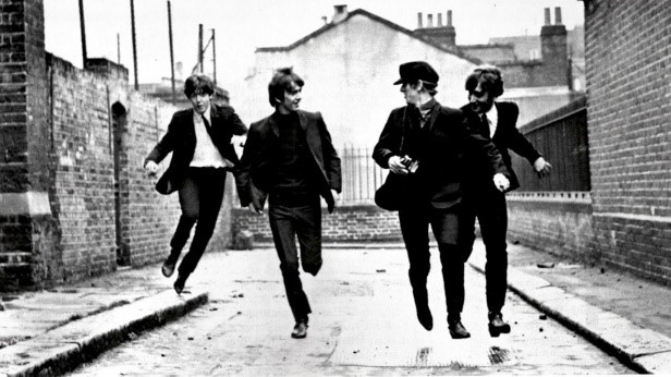 A still from  A Hard Day's Night